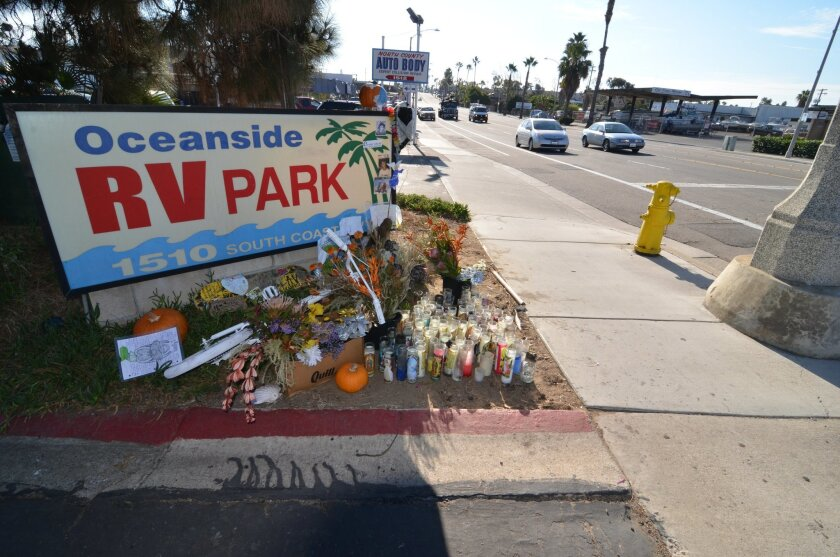 A memorial was built near the area in Oceanside where 12-year-old Logan Lipton was struck and killed while riding his bicycle to school. Residents in the area are calling for safety improvements on that strech of Coast Highway.
