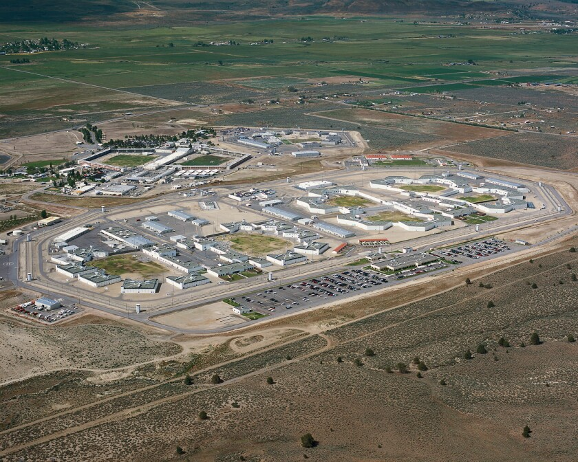 The California Correctional Center in Susanville, at top, adjoins the High Desert State Prison in Lassen County.