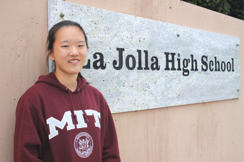Erica Liu is the valedictorian for La Jolla High's Class of 2015 and she has a 4.86 GPA.