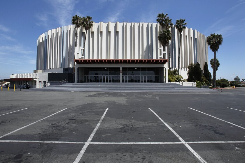 Rival developers are pitching plans for San Diego's 48-acre sports arena property.