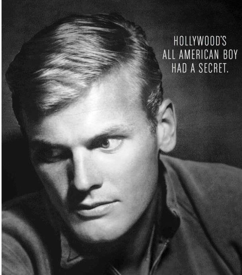 "Photo of matinee idol Tab Hunter on ""Tab Hunter Confidential"" Facebook page."