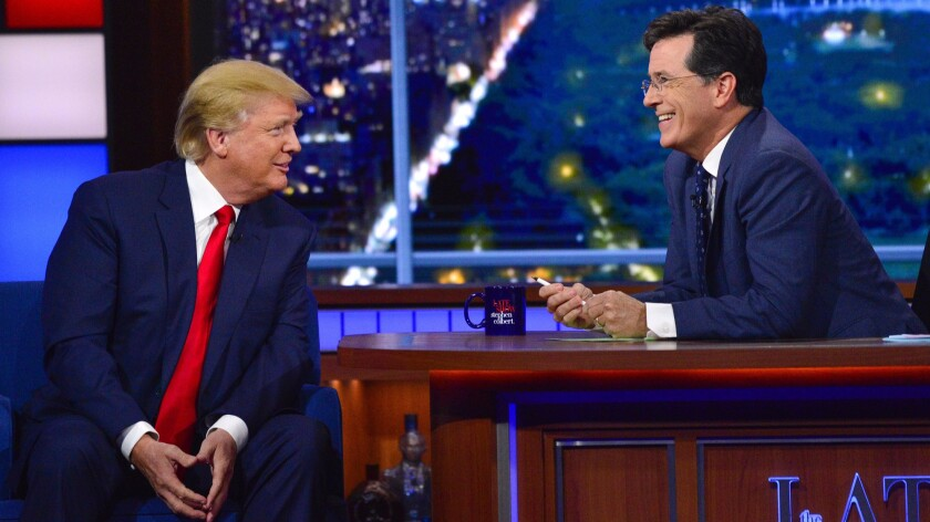 Did Stephen Colbert and CBS help legitimize Trump's campaign?