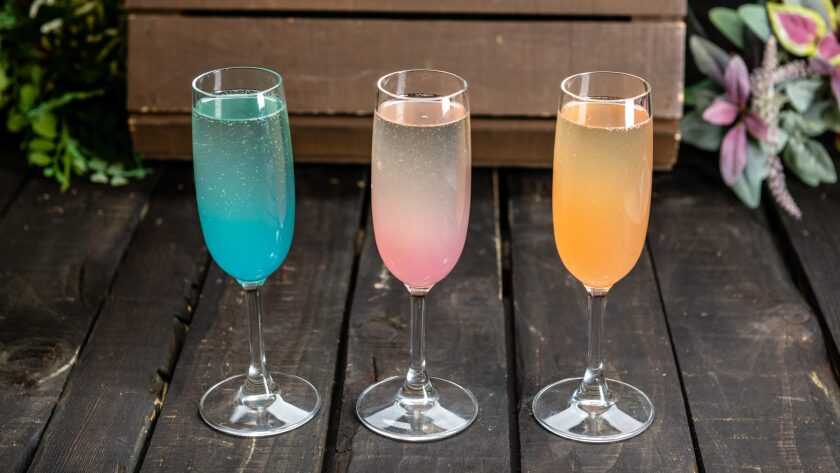 Disney California Adventure's 2020 Food & Wine Festival's Road Trip Mimosa Trio.