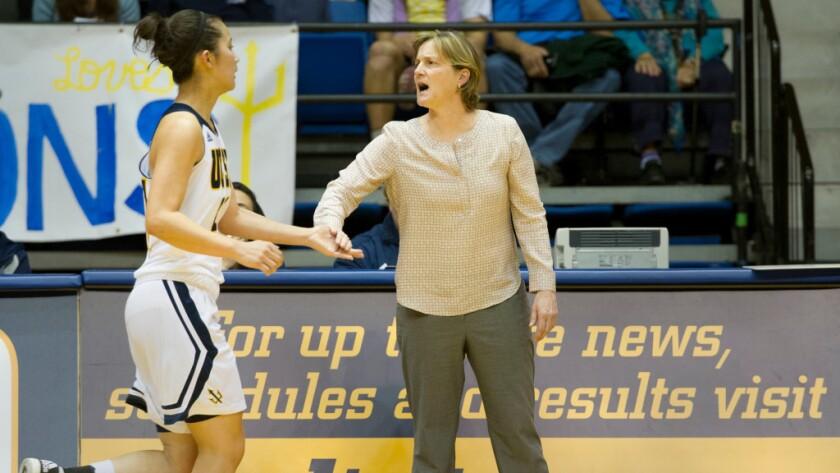 Heidi VanDerveer is in her fifth year coaching at UC San Diego.