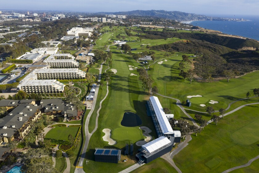 Scripps Green (top left) is next to the Torrey Pines Golf Course, which hosted the U.S. Open this month.