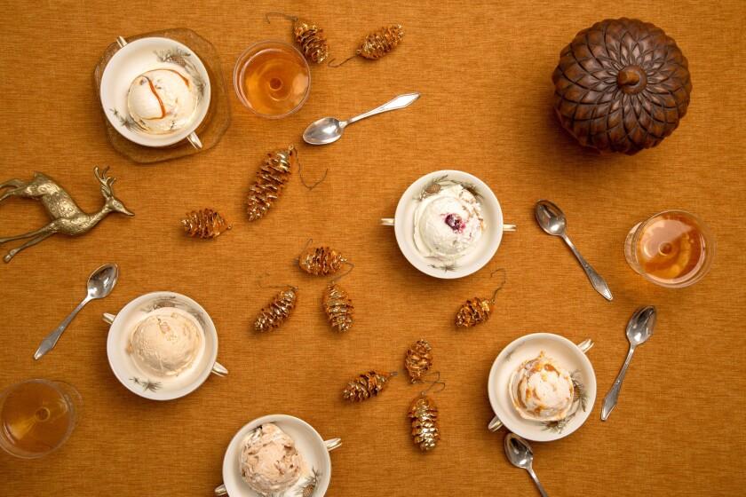 Thanksgiving ice cream flavors at Salt & Straw.