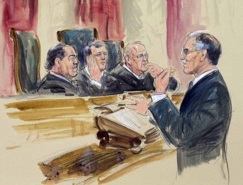 Donald B. Verrilli Jr., John Roberts, Anthony Kennedy, Antonin Scalia