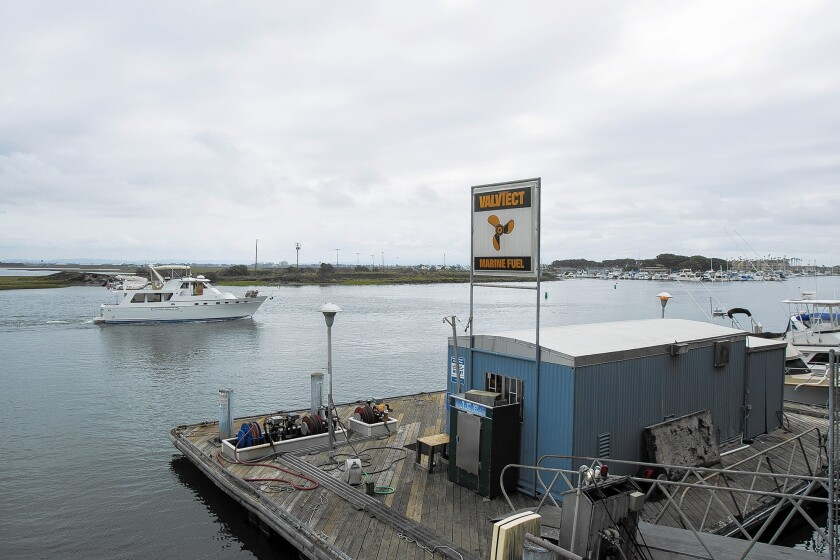 The Mariners Point boat fueling dock is the only one in Huntington Harbour.