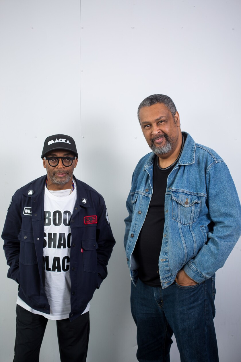 """Blackkklansman"" director Spike Lee, left, and co-writer Kevin Willmott were looking for a sense of urgency."