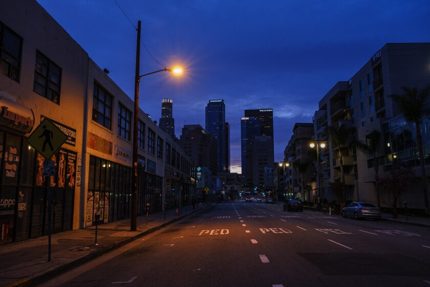 Third Street, downtown Los Angeles