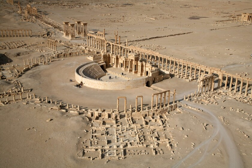 Jihadists of the Islamic State group have blown up three of the famed tower tombs of Syria's ancient desert city of Palmyra, seen in 2009.