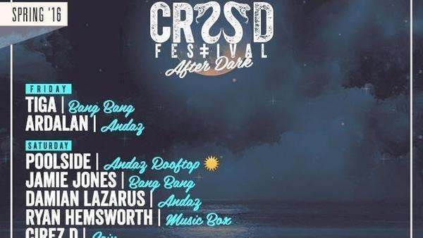 CRSSD Festival After Dark Lineup (Courtesy photo)