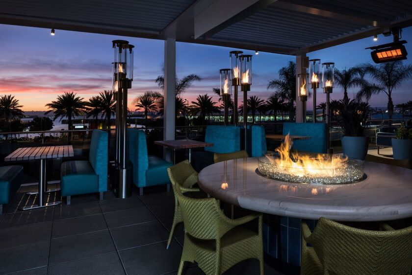 Del Frisco's Double Eagle Steakhouse offers two attractive patios facing the bay.