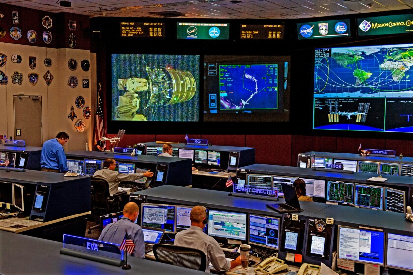 """Built in 1995, this facility took over from the """"historic Mission Control"""" as part of a $250 million renovation project. This room is manned 24/7 to help our Space Station team with whatever they need."""