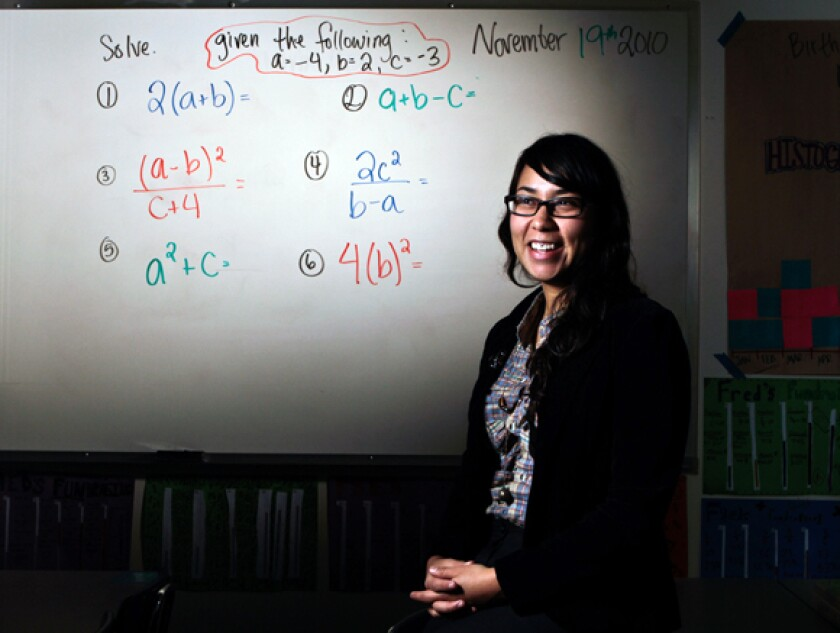 Arlen Vidal, a top-ranked math instructor at Liechty Middle School in Los Angeles, now teaches at a private school.