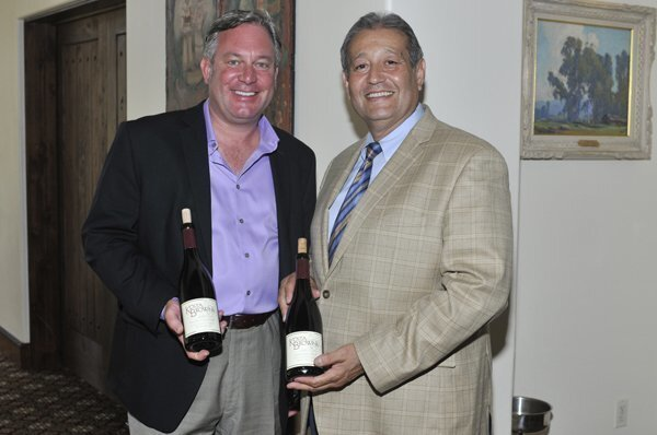 Michael Browne of wine maker Kosta Browne, RSF Golf Club General Manager and Chief Operating Officer Al Castro