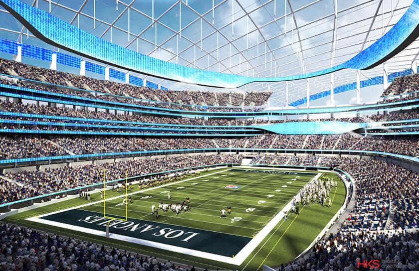 Proposed Inglewood stadium