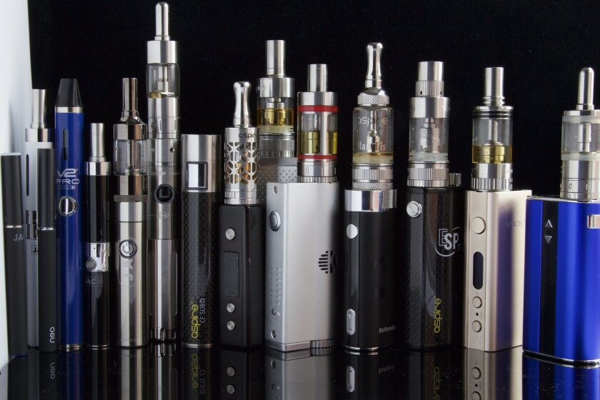 E-cigarette devices such as these would have to be approved by the Food and Drug Administration, under a new rule adopted by the FDA.