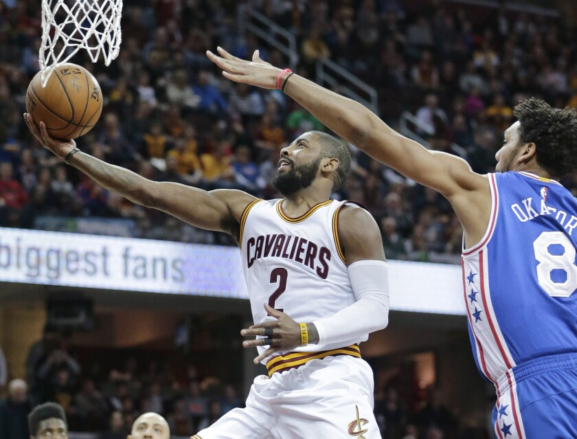Kyrie Irving makes season debut for Cavaliers in 108-86 win over 76ers