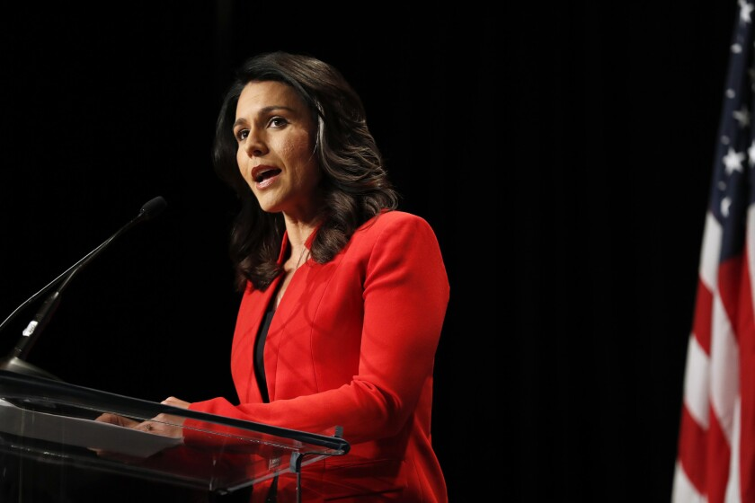 Democratic presidential candidate Rep. Tulsi Gabbard (D-Hawaii) is getting flak for receiving online support from Russian bots.