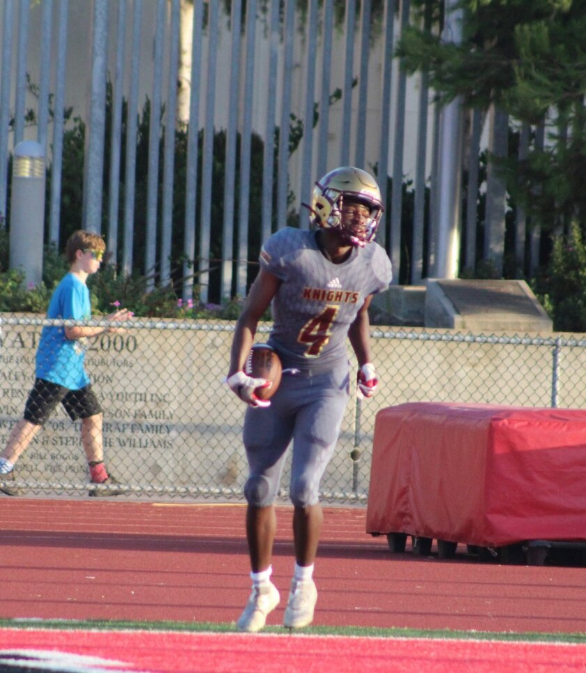 """Bishop's sophomore running back Tayshawn Taylor is """"really talented to be so young,"""" according to head coach Shane Walton."""