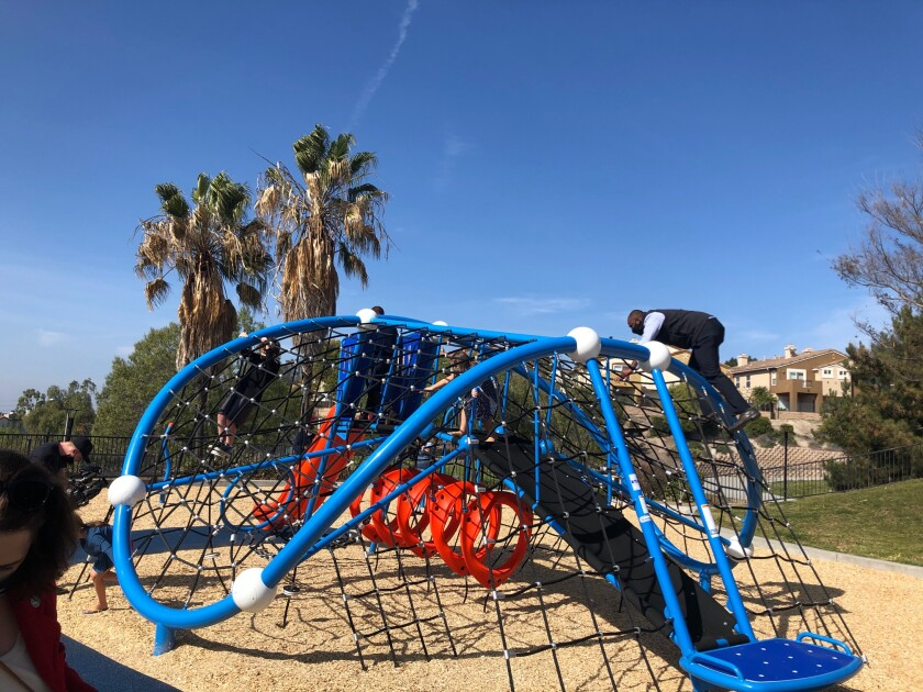 Chula Vista has installed an inclusive net climber for accessible play at Veterans Park.