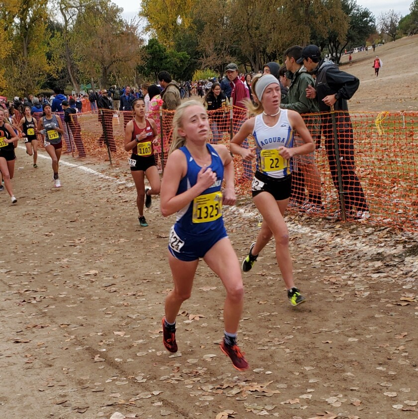 Amy Brown placed 15th at the state CIF state Cross Country