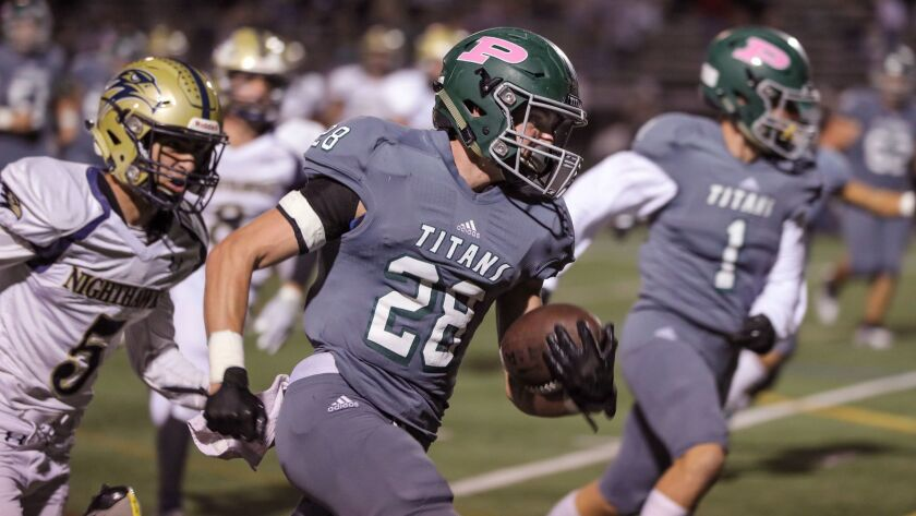 oway's Josh Butler runs for his second touchdown of the game.