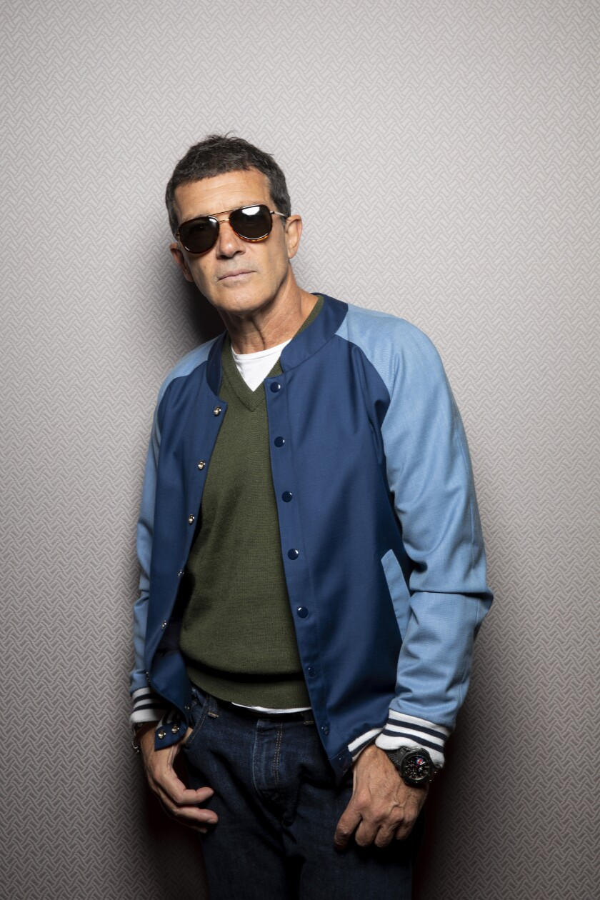 "Antonio Banderas, who stars in Pedro Almodovar's new film, ""Pain and Glory,"" in the L.A. Times Photo Studio at the Toronto International Film Festival."