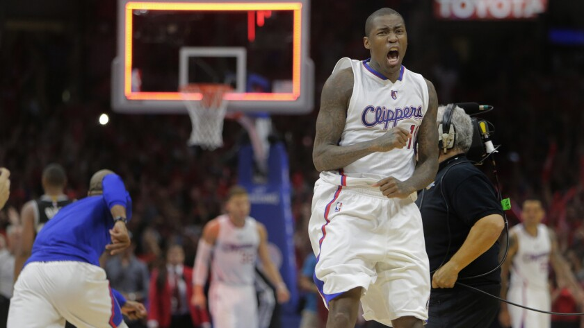 Jamal Crawford celebrates Clippers' win