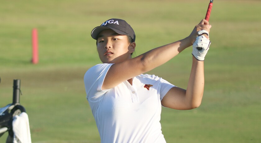 Torrey Pines' Summer Yang helped the Falcons to the Avocado West team win at the NCC tourney.