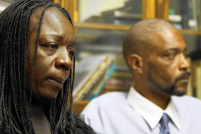 Anya Slaughter, left, and Kenneth McDade are the parents of Kendrec McDade, who was shot and killed in 2012 by Pasadena police.