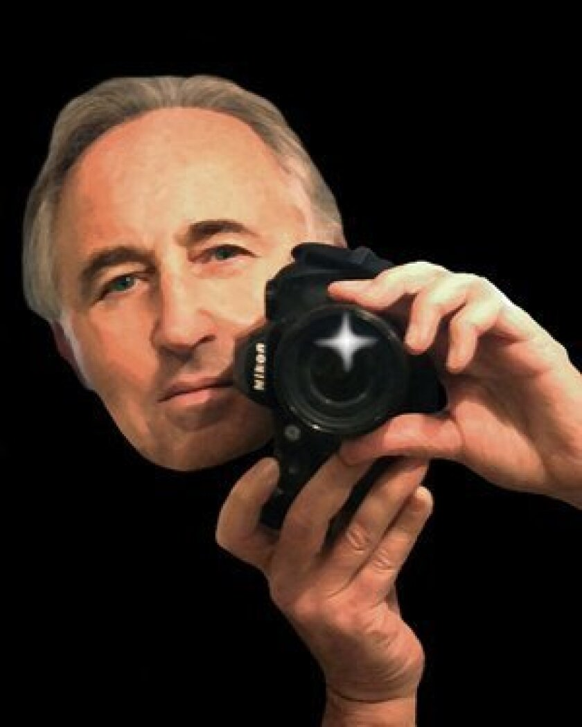 "A self-portrait of Bob Coletti produced in a ""photo illustration"" style."