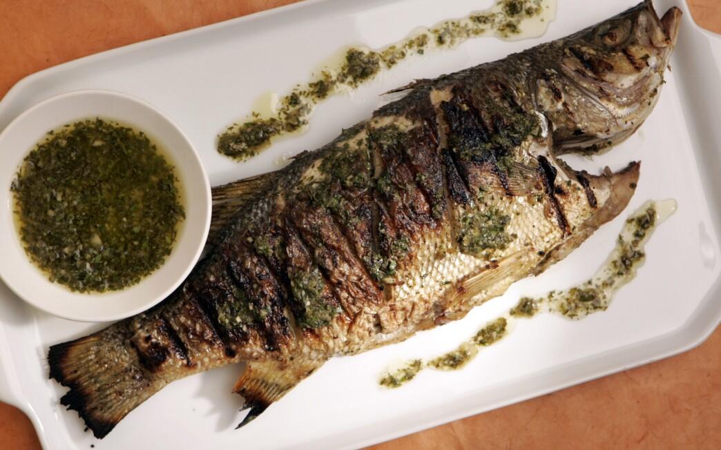 Cumin-crusted sea bass