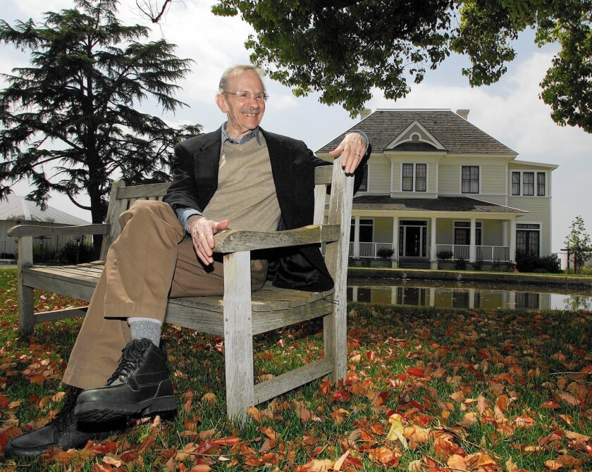 """Former U.S. poet laureate Philip Levine, seen at the San Joaquin River Center in Fresno, won the 1995 Pulitzer Prize for """"The Simple Truth."""""""