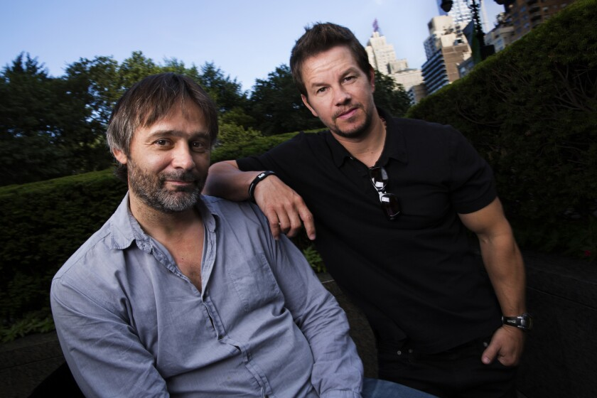 """Director Baltasar Kormakur, left, and Mark Wahlberg, who worked together in """"2 Guns"""" and """"Contraband."""""""