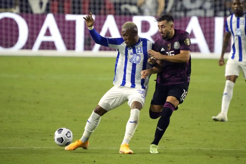 Honduras midfielder Deybi Flores (20