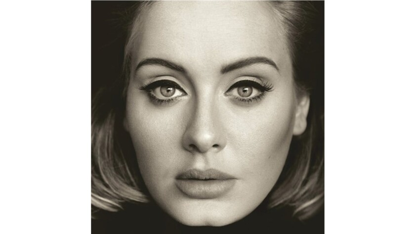 "Adele's ""Hello"" album cover."