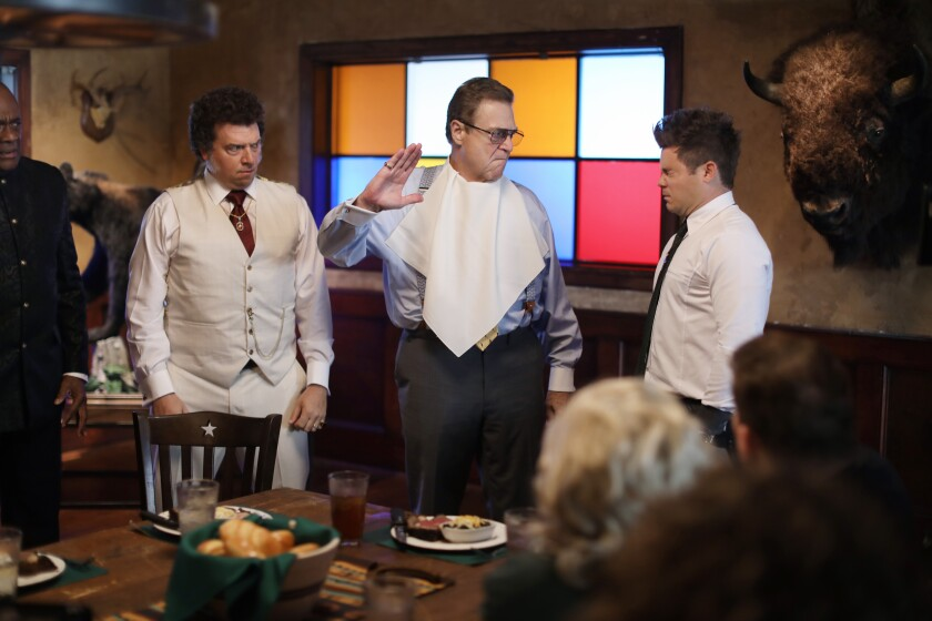 """Danny McBride, with John Goodman and Adam DeVine in HBO's """"The Righteous Gemstones."""""""