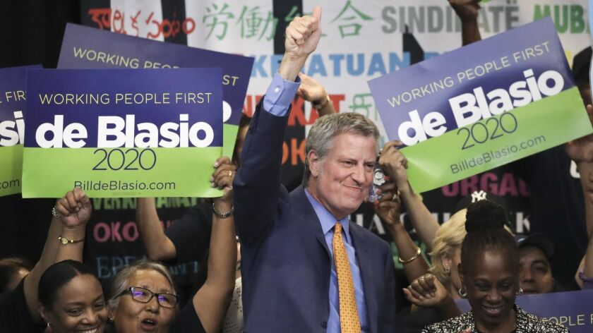 NY Hotel And Motel Trades Council Endorses Presidential Candidate Bill De Blasio