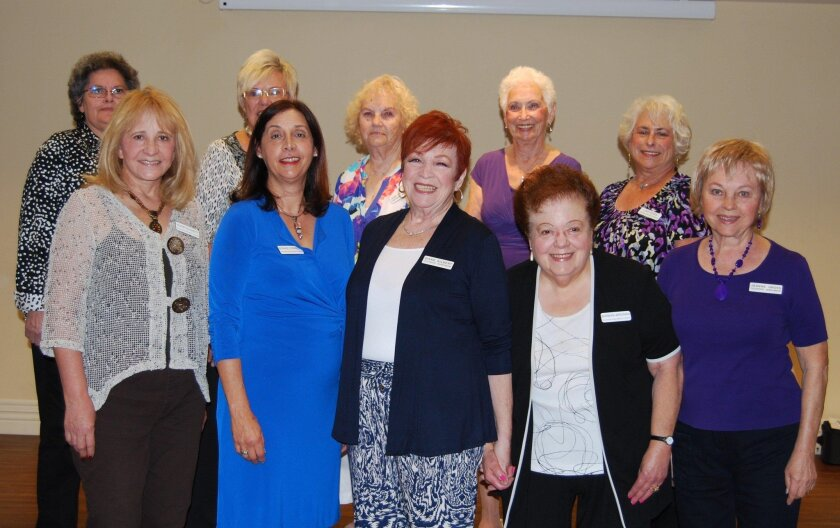 Oceanside Newcomers and Friends installed new officers for the 2016-2017 term. From left in front row is Valbori Daughtery, parliamentarian; Bonnie Conners, vice President; Diane Gilbert, president; Barbara Bregman, treasurer; Jeanne Gross, co-chairperson luncheons; from left in back row is Linda Misuela, secretary; Carola Grove, co-chairperson membership; Judy Clarquist, co-chairperson membership; Gwen Rienti, program and Lois Gadol, co-chairperson luncheon. Not pictured: Bert Oberst, co-chairperson hospitality; Teresa Hatt, co-chairperson hospitality and Debbie Vanderniet historian. Photo by Carol Elsasser