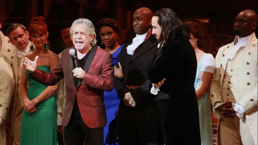 """Hamilton"" Opening Night Curtain Call & Press Conference"