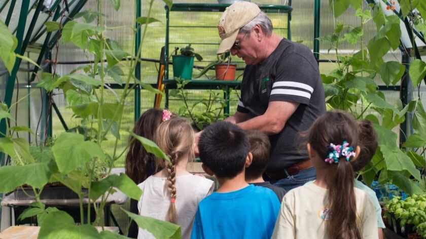 Garden coordinator and TPES parent, William Jenkins, Ph.D.