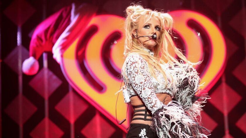 Singer Britney Spears performs at KIIS FM's Jingle Ball in Los Angeles in early December.