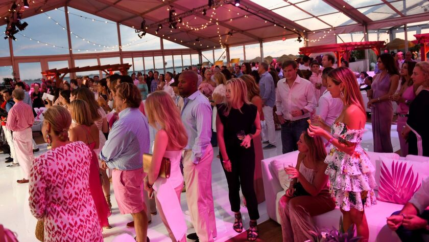 Atmosphere at the lively BCRF Party for Pink in Bridgehampton, N.Y. Saturday evening.