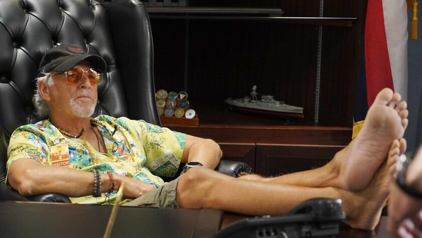 "Jimmy Buffett reprises his guest role in a new episode of the police drama ""Hawaii Five-0"" on CBS."
