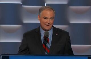 Sen. Tim Kaine mocks Donald Trump in acceptance speech at the Democratic National Convention