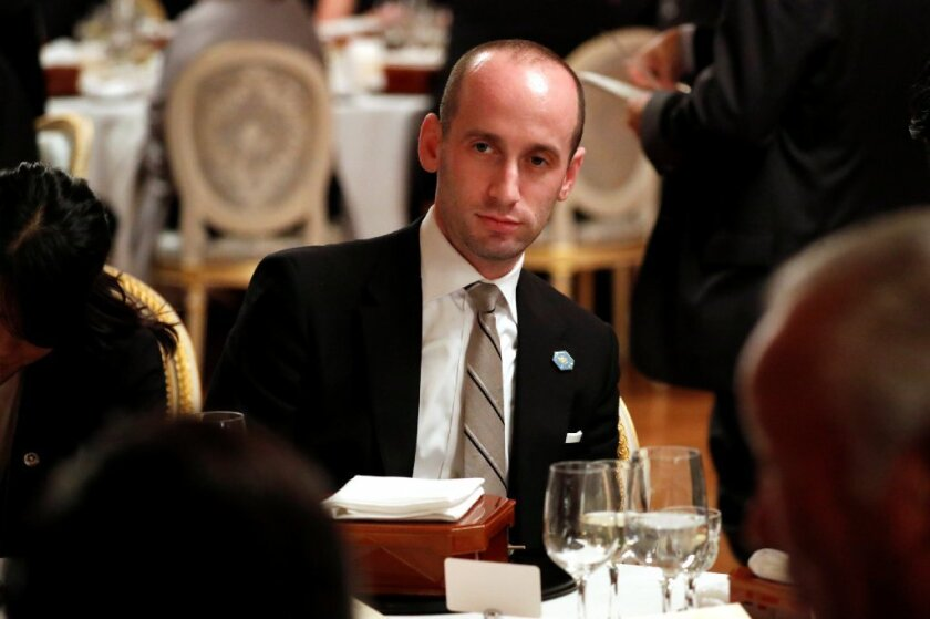 White House policy advisor Stephen Miller