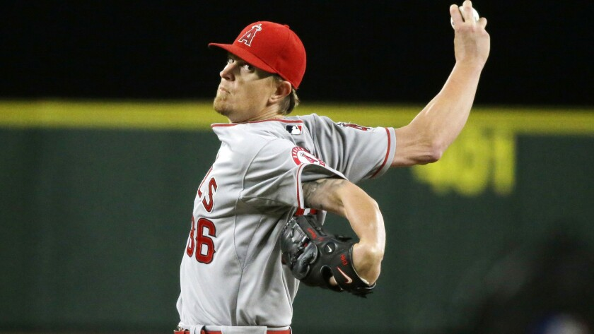 Angels starter Jered Weaver was ejected from Thursday night's game against the Mariners for hitting Seattle's Kyle Seager with a pitch.