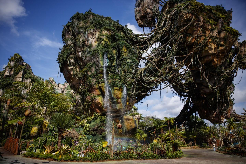 The floating mountains of Pandora in Disney World's Animal Kingdom in Orlando, Fla.